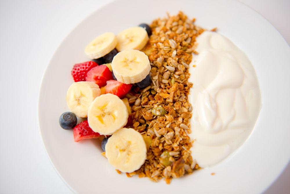 Fresh Fruit with Granola and Yogurt