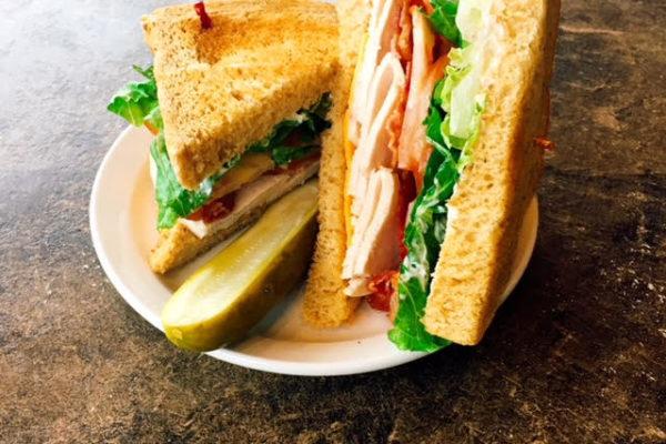 turkey club, bacon, sandwhich