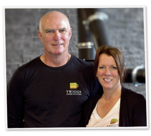 Roseanne and Rob Baskey Twiggs Coffee Roasters Parry Sound